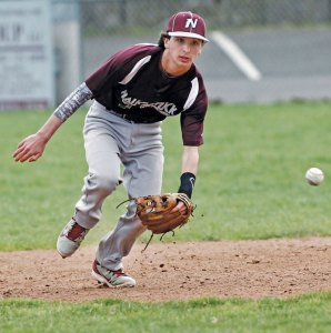 Naugatuck's Kyle Plasky hasn't skipped a beat this season for the Greyhounds switching catcher to second base. –RA ARCHIVE