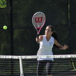 The Woodland girls tennis team won the NVL team tournament final versus Naugatuck, 4-3, May 29. –ELIO GUGLIOTTI