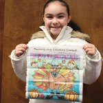 Asianah Lia Hernandez won the Citizen's News Thanksgiving coloring contest in the 9- to 12-year-old age group.- ELIO GUGLIOTTI
