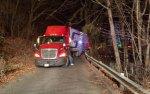 Tractor-trailer crashes in neighborhood