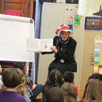 Naugatuck Superintendent of Schools Sharon Locke reads 'The Most Magnificent Thing' by Ashley Spires to first-grade students at Salem Elementary School March 4 as part of a Read Across America Day celebration. –LUKE MARSHALL