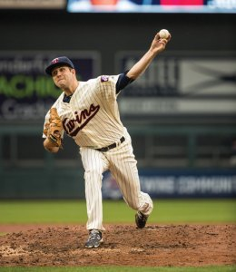 Naugatuck native Pat Dean made his Major League debut with the Minnesota Twins May 11 against the Baltimore Orioles. He pitched 2 2/3 innings in his debut. -BRACE HEMMELGARN/MINNESOTA TWINS