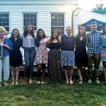 "The Camille B. Perugini Charitable Trust awarded $10,500 in scholarships to local students June 20 at Jesse Camille's Restaurant in Naugatuck. Naugatuck High School students Theresa Montoni, Meghan Lauer, Amber Luis and Jenna Massicotte; Wolcott High School students Alexander Tapley, Jenessa Teta, Madison Greenstein and Jorgija Cironaku; Woodland Regional High School students Zachary Crowell, Brian Sardinskas and Mary Vlamis; and Holy Cross High School student Jacquelyn Fay Brouillette received scholarships. The scholarships are awarded in memory of Camille B. ""Candy"" Perugini, who grew up in Prospect. Camille Perugini graduated from Boston College 1992 with a degree in elementary education. She died unexpectedly in 1997 from an undiagnosed medical condition that caused her heart to fail. Pictured, from left, Camille Perugini's sister and trustee Carla M. Perugini-Erickson, Camille Perugini's mother Camille Perugini, Brouillette, Luis, Massicotte, Montoni, Cironaku, Lauer, Sardinskas, Vlamis and Woodland Regional High School Principal Kurt Ogren. –CONTRIBUTED"