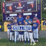 The Peter J. Foley Little League Rock Hounds defeated the Lugnuts, 7-6, June 17 to win the Minors championship. Pictured, front row from left, Josh Cirillo, Ethan McKeon, Jaxson DeFazio, Nathan Testone, Alex Chirkout; middle row from left, Jack Doxsey, Daniel Testone, James Crilly, Aidan Lyons, Sam Abate, Genieva Pawlowski; back row from left, Sean Lyons, Mike Doxsey, Vijay Chirkout and Ron DeFazio. -CONTRIBUTED