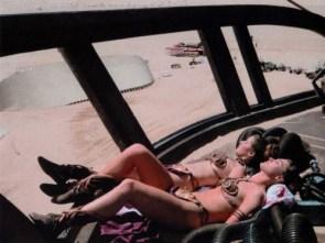 Princess Leia getting a tan