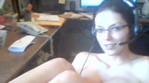 Adrienne Curry playing warcraft naked and stoned.