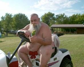 Santa in summer