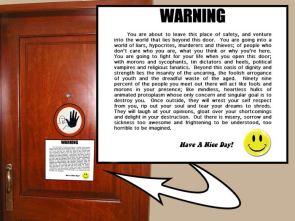Real Life Warning Sticker