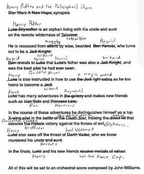The Original Harry Potter Script