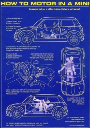 Mini Cooper Motoring Instructions