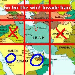 Go For The Win!  Invade Iran!