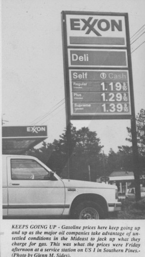 Devilish Gas Prices, Circa 1990