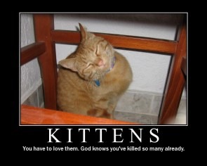 Kittens Motivational Poster