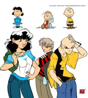 Charlie Brown Gone Anime