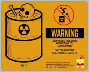 Toxic Waste Warning Label
