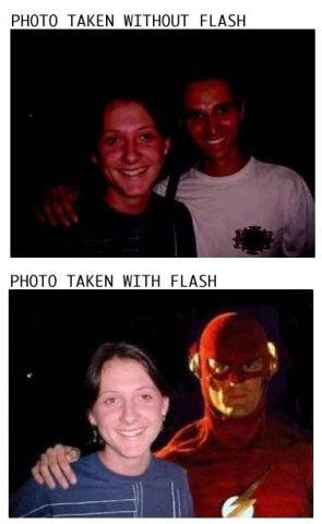 Without And With Flash