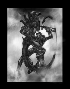 Master Chief Vs Alien