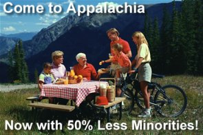 Appalachia: lily white excitement!