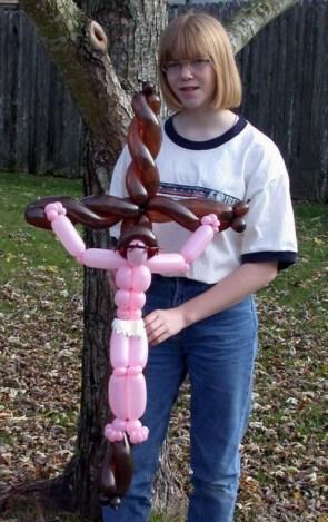 Jesus Balloon Art