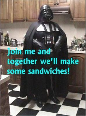 Darth Vader's Sandwich Making Skills Are LEET