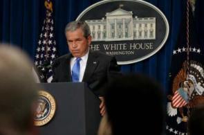President Bush- Holding The Fart In