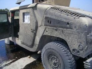 Humvee Battle Damage