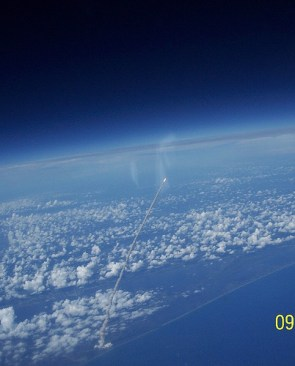 Shuttle Launch, As Seen From ISS