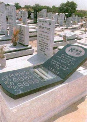 Cell Phone Headstone
