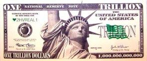One Trillion Dollar Bill
