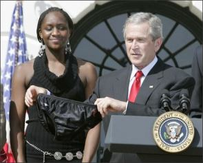 George Bush Caught With Panties