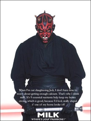 Darth Maul Milk Mustache