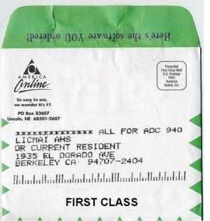 AOL CD-ROM For Mr. Ahs