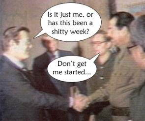 Rumsfield Vs Saddam