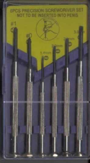 6 PCS Precision Screwdriver Set: Not To Be Inserted Into Penis
