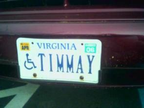 Timmay License Plate