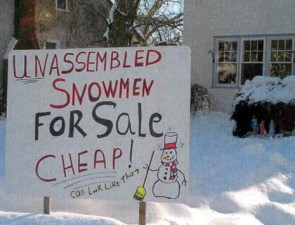Unassembled Snowman For Sale