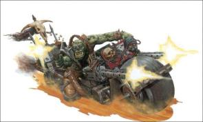 WarHammer 40k – Ogre on a bike