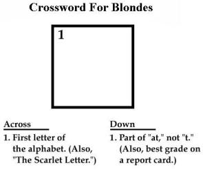 Crossword For Blondes