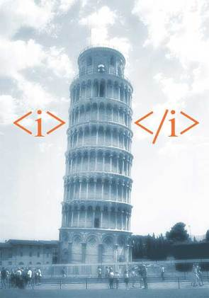 Leaning Tower Of HTML Pisa