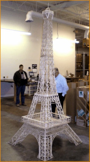 5,000 Popsicle Stick Eiffel Tower