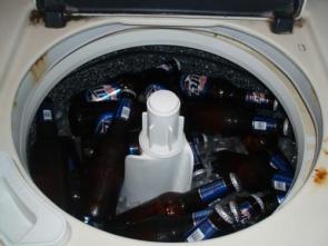 Ingenious Beer Bottle Storage Device