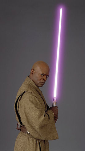 Mace Windu And Purple Light Sabre