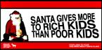 Santa Gives More To Rich Kids