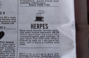 Herpes Dating Ad
