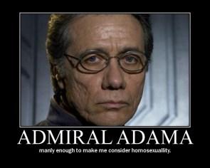 Admiral Adama Motivational Poster