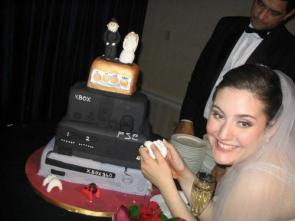 Video Gaming Wedding Cake