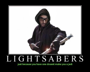 Lightsabers Motivational Poster