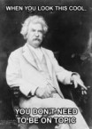 Mark Twain Looks COOL