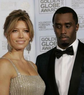 Puff Daddy Staring At Jessica Biel's Breasts