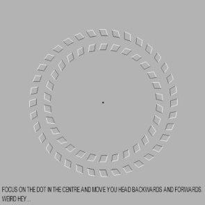 Rotating Circles Visual Trick